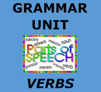 VERBS: PARTS OF SPEECH UNIT:  Interactive Verb Study