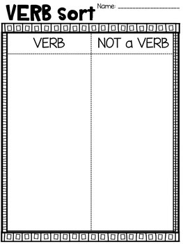 VERB activity. Verb Craft and other activities!