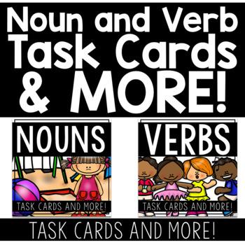 VERB and NOUN Task Cards and MORE! BUNDLE