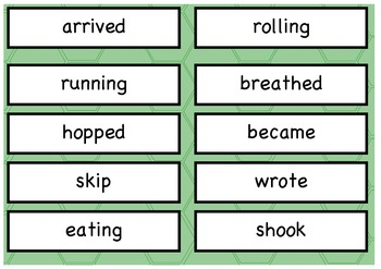 VERB types (PROCESSES) Sorting activity