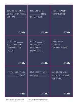 VERBA: Español Core Set - Free Print and Play File