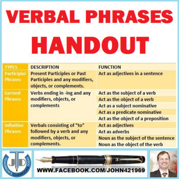 VERBAL PHRASES: HANDOUT