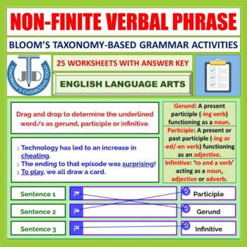 VERBAL PHRASES WORKSHEETS WITH ANSWERS