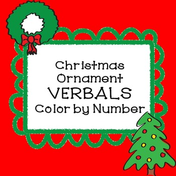 VERBALS Christmas Ornament Color by Number
