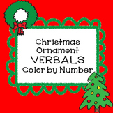 Christmas Activities VERBALS Christmas Ornament Color by Number