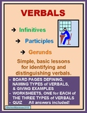 VERBALS - Infinitives, Participles and Gerunds - Lessons and Quiz