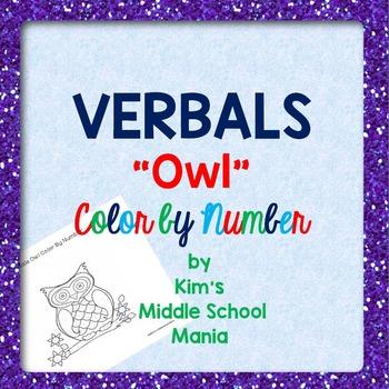 "VERBALS ""Owl"" Color by Number"