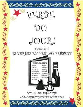 VERBE DU JOUR!  15 Verbes en -ER