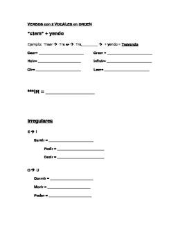 VERBOS - ING/ PRESENTE PROGRESIVO (present progressive) NOTES