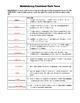 VERBS: A Grammar Activity