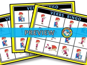 ACTION VERBS GAME (BINGO ACTIVITY)