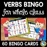 ACTION VERBS BINGO GAME ACTIVITY AND FLASHCARDS MATCH UP MATS LITERACY CENTER