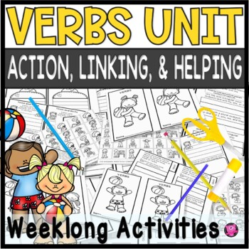 VERBS FLIP BOOKS for ACTION HELPING and LINKING VERBS