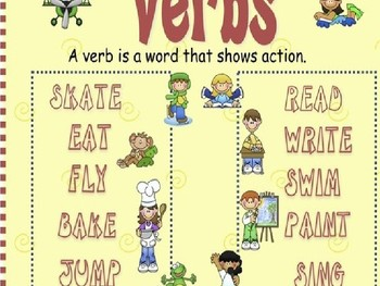 VERBS! FUN INTERACTIVE VERB POWERPOINT *VERB RAP INCLUDED*