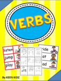 VERBS - GAME CARDS/WORKSHEETS