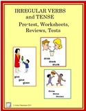 VERBS: Irregular Verbs and Tense Worksheets, Reviews, Tests