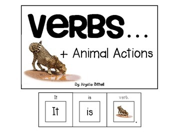 VERBS...Animal Actions Adapted Book