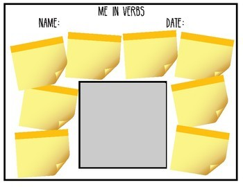 VERBS... Me In Verbs: Verb Yourself Craftivity