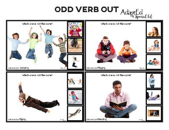 VERBS... Odd Verb Out: Which One Does Not Belong?