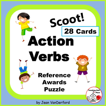 ACTION VERBS |Task Cards | CORE | Crosswords | Play Scoot | PRACTICE | Gr 3 - 4