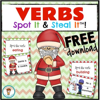 VERBS Spot It & Steal It ~ Christmas Theme