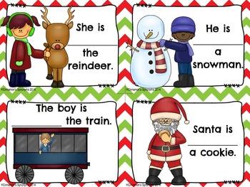 VERBS Spot It & Steal It ~ Christmas Theme