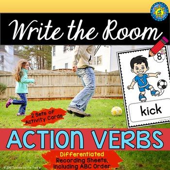 VERBS Write the Room - Literacy Center