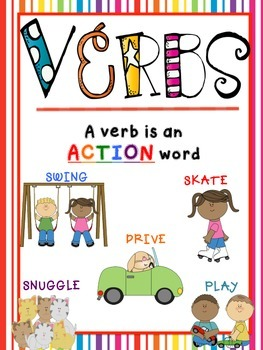Verbs Poster And Magazine Activity Writing Template By