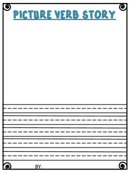 VERBS poster and magazine activity writing template