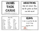 VERBS task cards bundle!