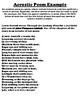 VERMONT Acrostic Poem Worksheet