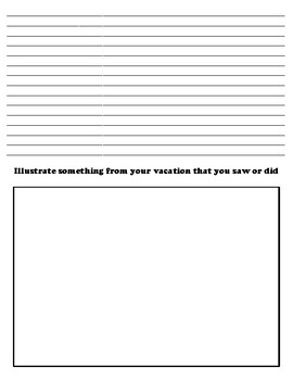 VERMONT CREATIVE WRITING  DIFFERENTIATED WORKSHEET