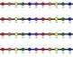 VERTICAL Student Desk Number Line Ladders – Rainbow Primary (0-10 to 0-30)