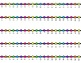VERTICAL Student Desk Number Line Ladders – Rainbow Bright (0-10 to 0-30)