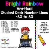 VERTICAL Student Desk Number Line Ladders – Rainbow Bright