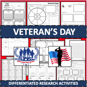 VETERANS DAY Biographical Biography Research Activities DIFFERENTIATED!