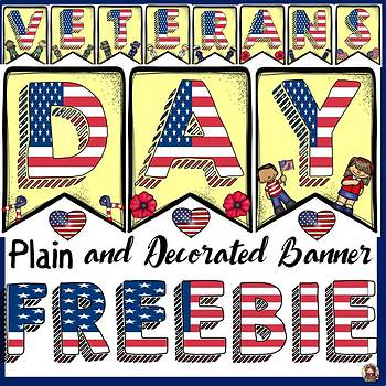 VETERANS DAY: BANNER FREEBIE