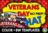 VETERANS DAY CRAFT TEMPLATE (HAT) NOVEMBER ACTIVITIES KIND