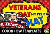 VETERANS DAY CRAFT TEMPLATE (HAT) NOVEMBER ACTIVITIES KIND