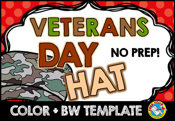 VETERANS DAY CRAFTS (SOLDIER HAT TEMPLATES) ARMY CROWN NOVEMBER ACTIVITY