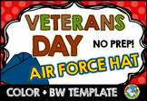 VETERANS DAY ACTIVITY KINDERGARTEN (NOVEMBER CRAFTS) AIR FORCE HAT