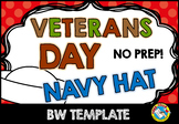VETERANS DAY CRAFTS (NAVY HAT TEMPLATE) FALL CRAFTS KINDERGARTEN