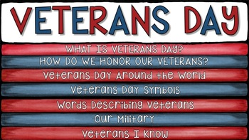 VETERANS DAY ACTIVITIES: Digital Flipbook Google Slides™
