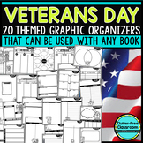 VETERANS DAY | Graphic Organizers for Reading | Reading Graphic Organizers