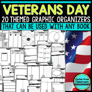 VETERANS DAY   Graphic Organizers for Reading   Reading Gr