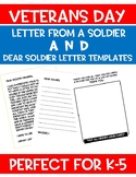 VETERANS DAY LETTER TO YOUR CLASS AND LETTER WRITING TEMPLATE!