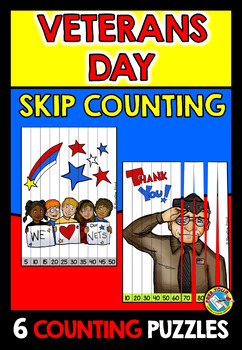 VETERANS DAY MATH ACTIVITIES: SKIP COUNTING PUZZLES