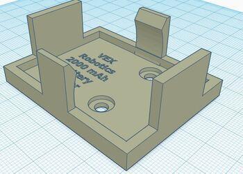 VEX 3D printable 7.2 Battery Holder