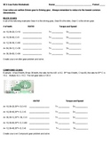 VEX Practice Gear Ratios Worksheet