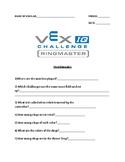 VEX IQ Ringmaster Questionnaire